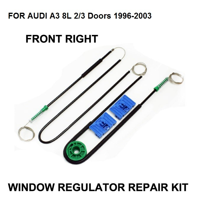 1996-2004 CAR WINDOW CABLE FOR AUDI A3 8L 3 DOOR ELECTRIC WINDOW REGULATOR REPAIR KIT FRONT - RIGHT,OE#8L3837462