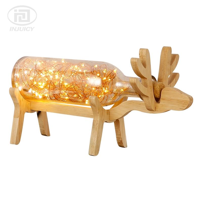 In legno massiccio in stile nordico camera da letto comodino lampada da tavolo LED di Notte di Vetro Luci Fuoco Argento Albero di Fiore Deer Decorazione Lampada Da TavoloIn legno massiccio in stile nordico camera da letto comodino lampada da tavolo LED di Notte di Vetro Luci Fuoco Argento Albero di Fiore Deer Decorazione Lampada Da Tavolo