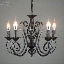 Lámpara colgante vintage de hierro para cocina, comedor, campo, iluminación del hogar, color negro