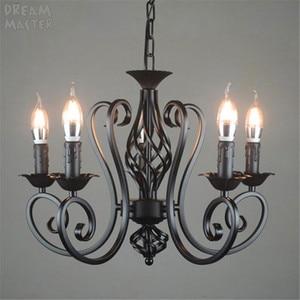 Image 1 - Zwarte Vintage Industriële Hanglamp Nordic Retro Lichten Ijzer Loft Opknoping Lamp Keuken Eetkamer Platteland Home Verlichting