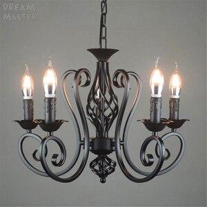 Image 1 - black vintage industrial pendant light nordic retro lights iron loft hanging lamp kitchen dining room Countryside home lighting