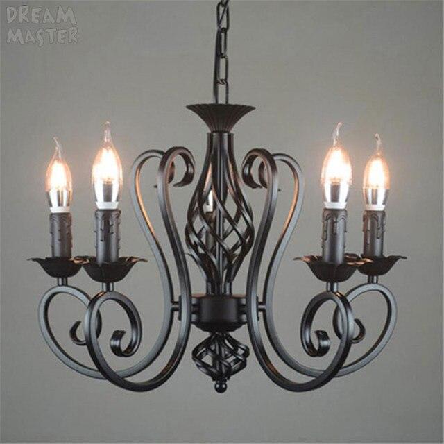 black vintage industrial pendant light nordic retro lights iron loft hanging lamp kitchen dining room Countryside home lighting