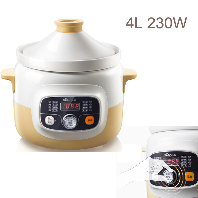 15%JA16 Smart Insulation Reservation Electric Slow Cooker 4L 230W Ceramic Whiteware Porridge Pot Anti-overflow Mute Soup pot15%JA16 Smart Insulation Reservation Electric Slow Cooker 4L 230W Ceramic Whiteware Porridge Pot Anti-overflow Mute Soup pot