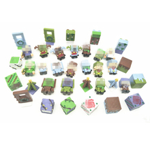 36pcs/lot Minecraft Figures Toys Mini Characters Hanger Action Figure Models Blocks Collection Gifts Toys For Children #E
