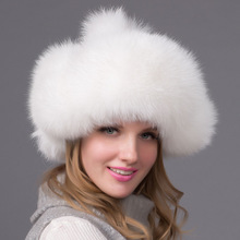 50c72164001 BUTTERMERE Bomber Hat Real Raccoon Fur Pom Pom Russian Ushanka Hats For Women  Earflaps White Winter
