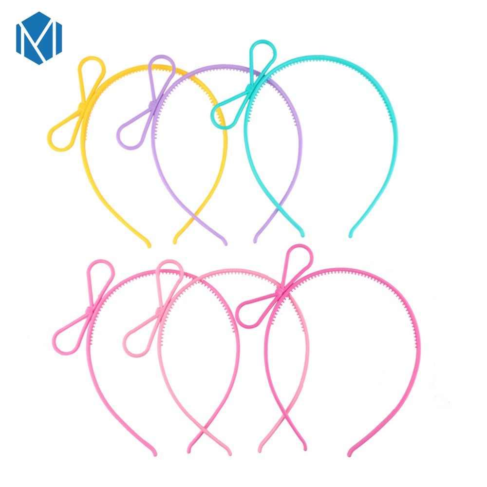 M MISM แมวน่ารักหูกระต่าย Crown หญิงเกาหลีแฟชั่น Band Candy สี Hoop Headband เด็กเด็กอุปกรณ์เสริม