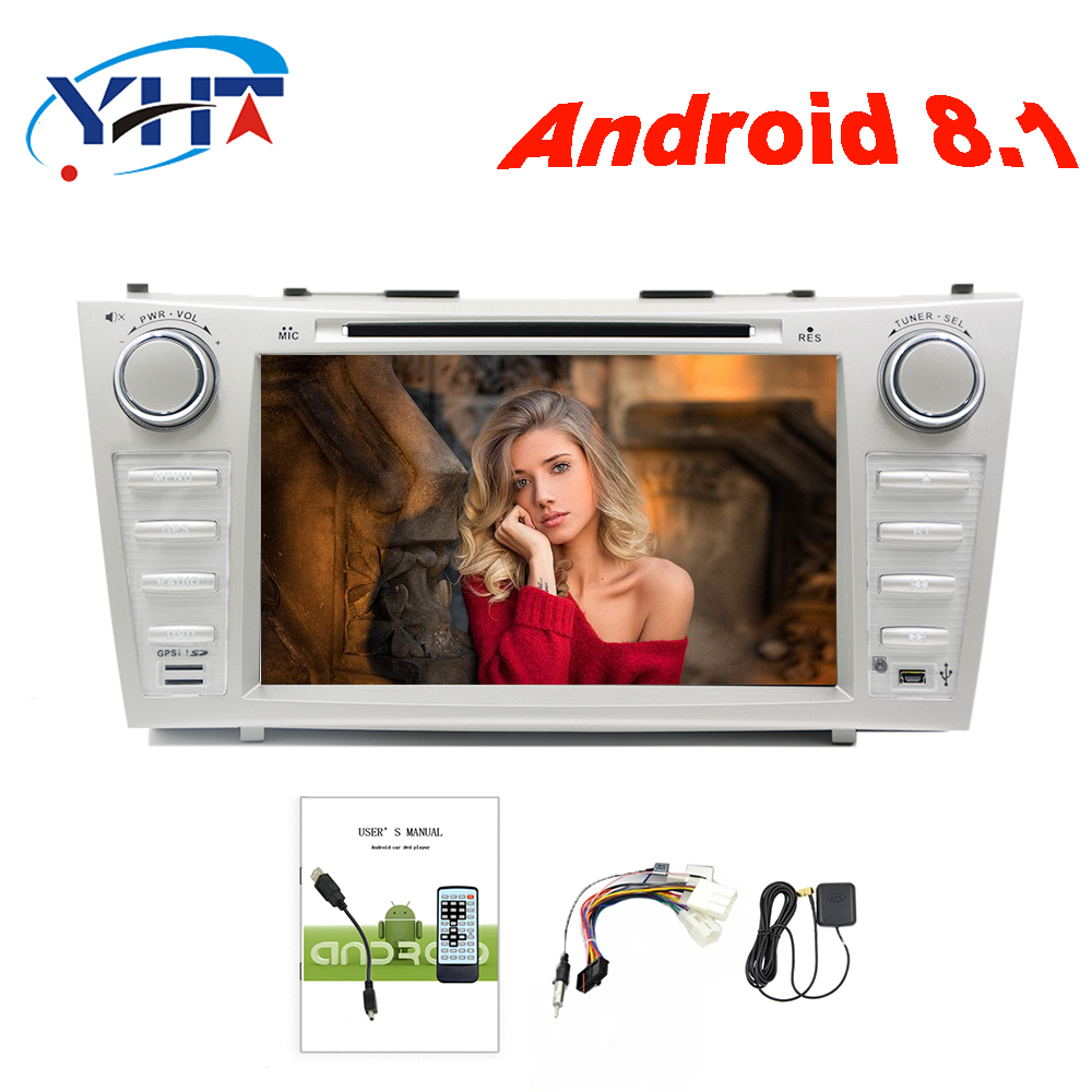 2din 8 4 Core 1+16G Android 8.1 Car Radio DVD Player with Capacitive Touch Screen BT HD MirrorLink for Toyota Corolla 2007 2011