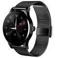 En la acción! k88h alta calidad estilo de moda reloj impermeable ultrafino ronda estilo smart watch construido en 300 mah de la batería