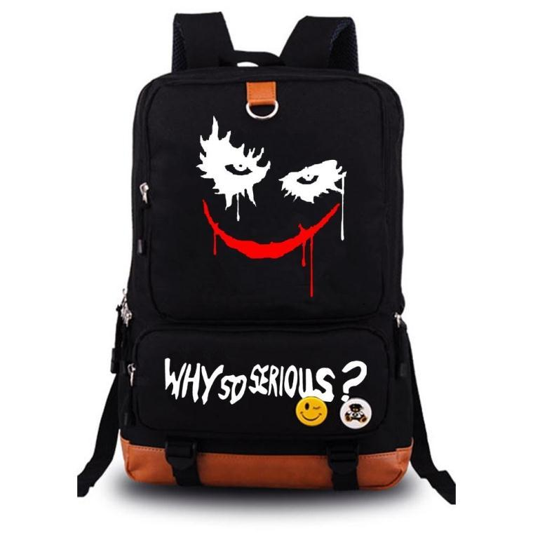 Suicide Squad Joker Harley Quinn backpack casual teenagers Men women's Student School Bags travel Shoulder Bag Laptop Bags hot suicide squad messenger bags for students harley quinn school bags for girls funny joker printing rucksacks children mochila