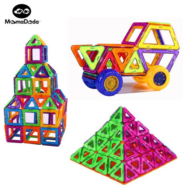 74 unids Norias Y Reglajes del coche Magnética Niños Bloques de Juguete Para Niños Conjunto de Juguete Kids Educación de BRICOLAJE Construcción de edificios juguete