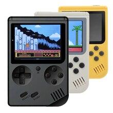 레트로 휴대용 미니 핸드 헬드 게임 콘솔 8 비트 3.0 인치 컬러 lcd 키즈 컬러 게임 플레이어 내장 168 클래식 게임 키즈 보이