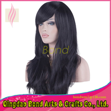 Free shipping natural color Full lace wigs with bangs virgin Brazilian Glueless Lace front wig for black women