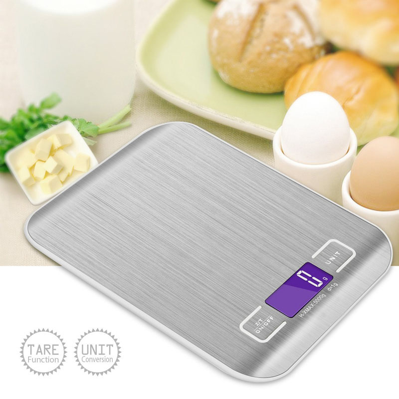 Digital Scale 5000g/1g Kitchen Cooking Measure Tools Stainless Steel Electronic Weight LED Electronic Bench Scale Weight--M25  цены