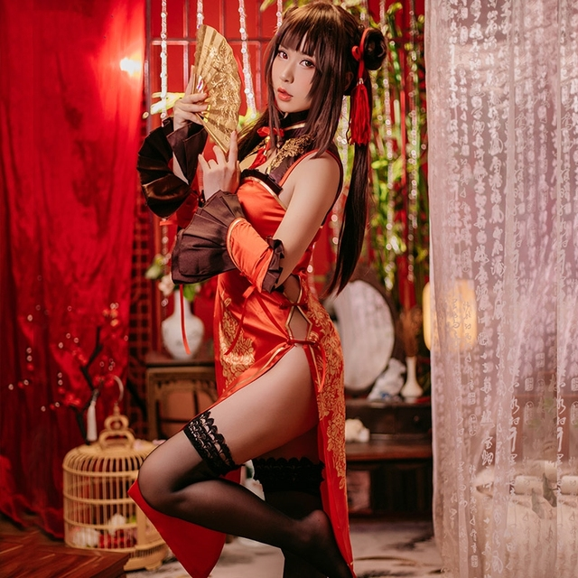 New Anime Date A Live Tokisaki Kurumi Cosplay Costume New Year's Cheongsam Carnaval Disfraces Halloween Costumes for Women XS-XL 3