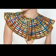 Brw ankara африканские ожерелья в сеточку шаль воротник женские