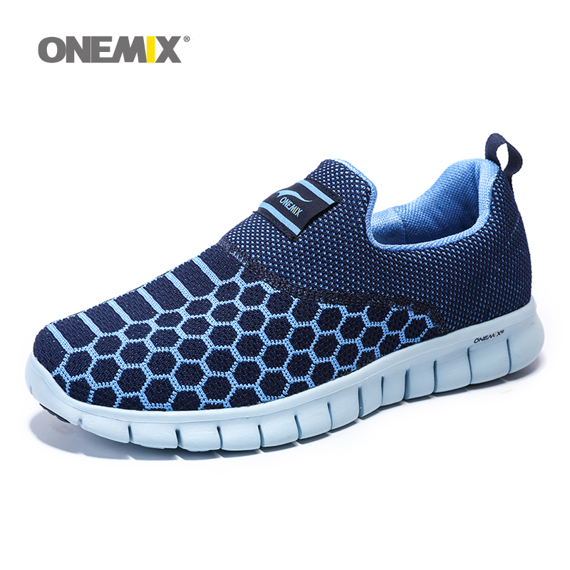 ONEMIX 2018 Men Running Shoes For Women Comfortable Breathable Loafers Zapatillas Outdoor Sports Tennis Trail Walking Sneaker 42 onemix 2016 men s running shoes breathable weaving walking shoes outdoor candy color lazy womens shoes free shipping 1101