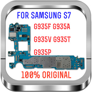 Image 1 - مع نظام أندرويد ، لوحات منطق أصلية غير مقفلة 100% لهاتف سامسونج جالاكسي S7 edge G935FD اللوحة الأم مع بطاقة Sim المزدوجة