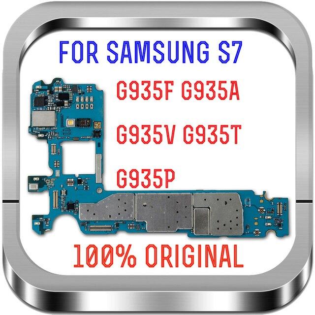 مع نظام أندرويد ، لوحات منطق أصلية غير مقفلة 100% لهاتف سامسونج جالاكسي S7 edge G935FD اللوحة الأم مع بطاقة Sim المزدوجة