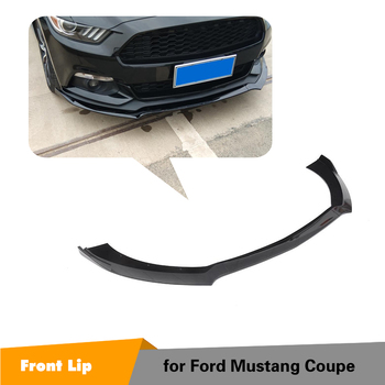 For Ford Mustang 2015 2016 2017 ABS Matte Black Glossy Black Front Bumper Lip Spoiler Splitters