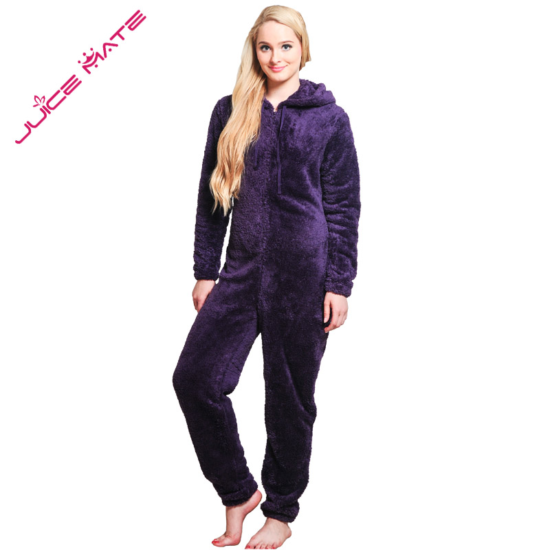 90dc65d1de Winter Warm Pyjamas Women Onesies Fluffy Fleece Jumpsuits Sleepwear Overall  Plus Size Hood Sets Pajamas Onesie For Women Adult on Aliexpress.com