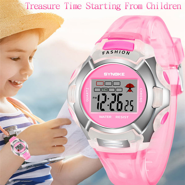 Children Kids Waterproof Watches Digital LED Sports Alarm Date Luminous Wristwat
