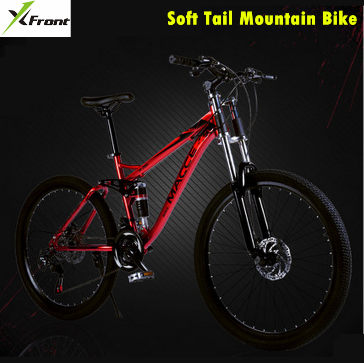 New brand 21/24/27 speed Soft tail damping 26 inch mountain bike outdoor downhill disc brake bicicleta MTB bicycle