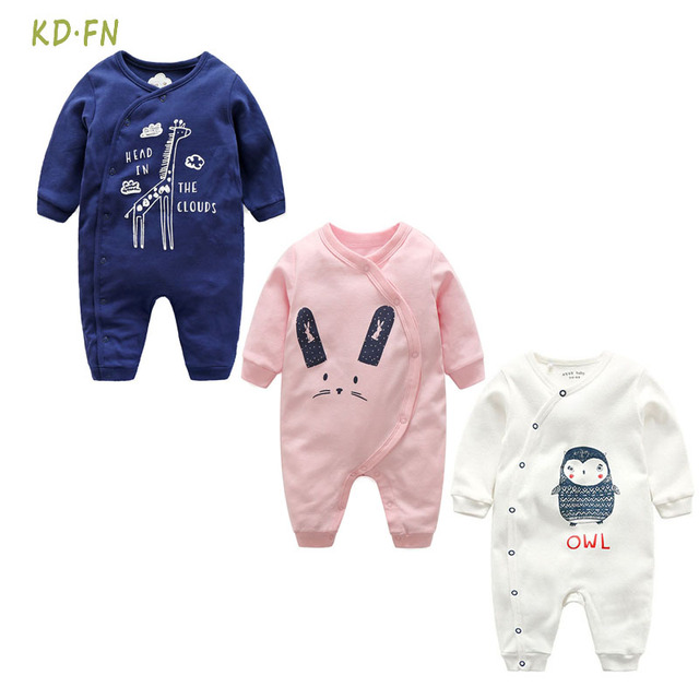 7faa1a2b13d9 Newborn Baby romper Cotton Cartoon print Long sleeves Autumn Winter Baby  boys girl clothes Ropa de bebe infantil Baby clothes