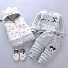 Baby Boys Girls Christmas Cartoon 3Pcs Clothes Set