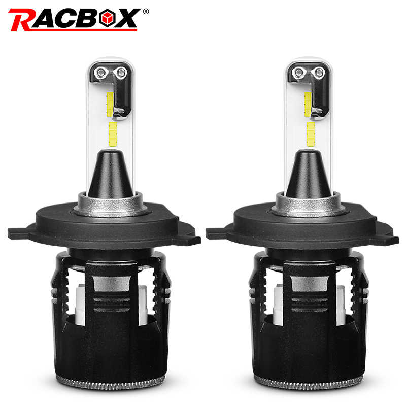 RACBOX Turbine Car LED Headlight Bulbs With CSP Chips H4 Hi Lo Beam H1 H7 H11 9005 9006 HB3 HB4 Light White 6000K LED Auto Lamp