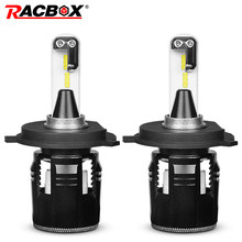 RACBOX Turbine Car LED Headlight Bulbs With CSP Chips H4 Hi Lo Beam H1 H7 H11 9005 9006 HB3 HB4 Light White 6000K LED Auto Lamp(China)