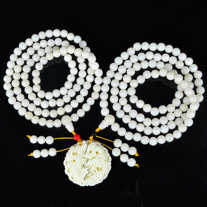Koraba Fine Jewelry Natural Beauty Bodhi Beads and Ivory Fruit Carvings Dragon and Phoenix A Pair Free Shipping 11 china silver prosperity brought by the dragon and the phoenix vases pair