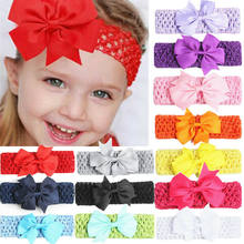 Hot Baby Newborn Toddler Kids Girls Headband Flower Hairband Gift Casual Beauty Stretch Bow Knot Accessories 13 Colors Headwear(China)