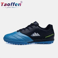Taoffen Mixed Colors Round Toe Fashion Football Shoes Men Hot Sale Class Child Soccer Shoes Sneakers Outdoor Footwear Size 34 44