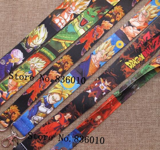 Hot Sale! 60 pcs  Japanese Anime Dragon Ball  Key Chains Mobile Cell Phone Lanyard Neck Straps    Favors P-50