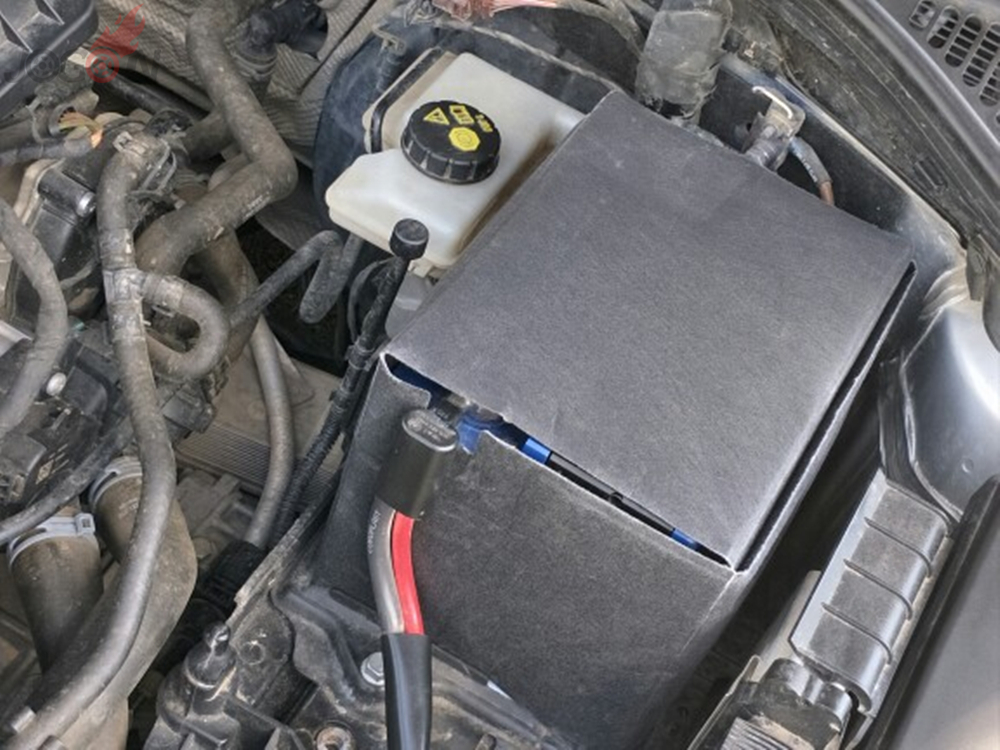 Крышка автомобильной аккумуляторной батареи Защитная хлопковая Термосумка коробка для VW Golf 6 7 MK6 MK7 Passat Jetta CC EOS
