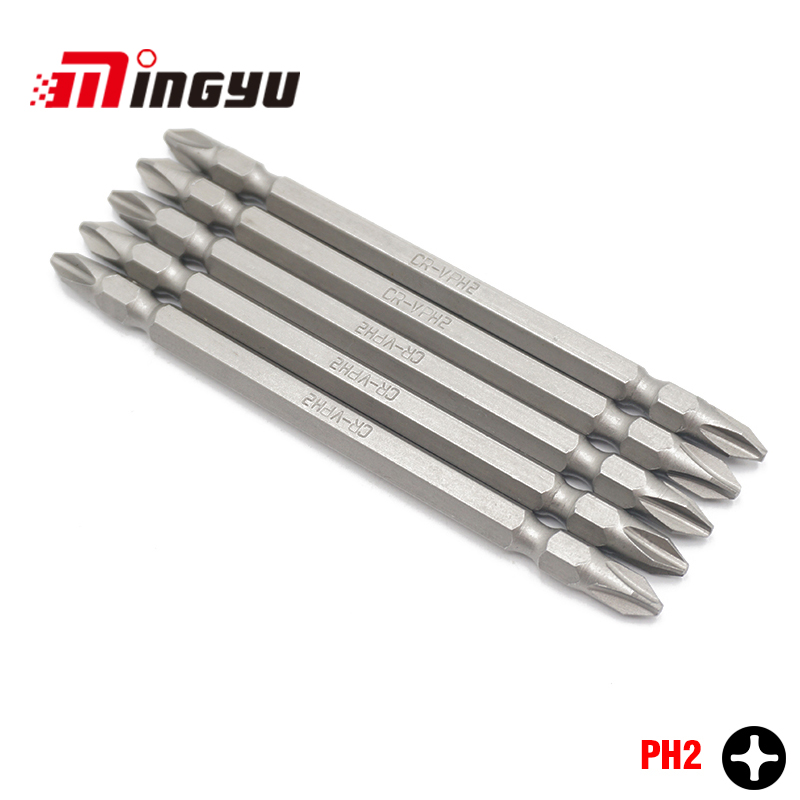 uxcell PH2//SL5 Magnetic Double Ended Screwdriver Bits 1//4 Inch Hex Shank 3.94-inch Length S2 Power Tool