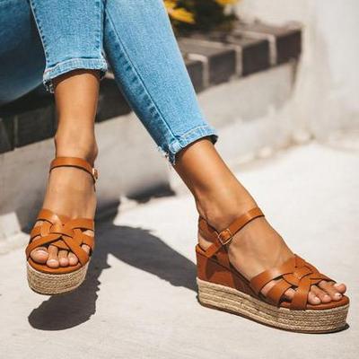 Platform Sandals Pumps Wedges Summer Shoes High-Heels Femme Flop Chaussures