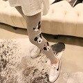 2016 Mickey Mouse Lindo Embarazadas Polainas de Las Mujeres de Gran Tamaño de Maternidad Cuidado Del Vientre Pantalones Pies Pantalones Elásticos de Gran Tamaño Libre