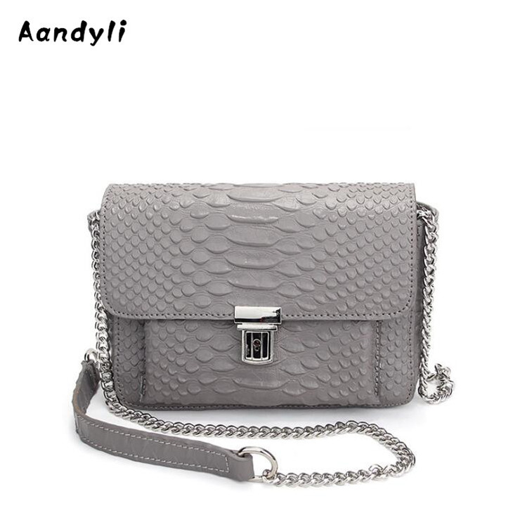 Fashion single shoulder bag Leather Crossbody bags European Serpentine Women s Crocodile grain handbags