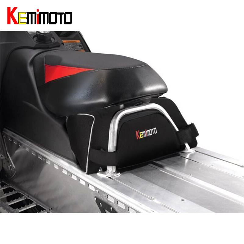 KEMiMOTO Under seat Storage Bag Switchback Cargo For Snowmobile Sled For Polaris Assault RMK Indy 550
