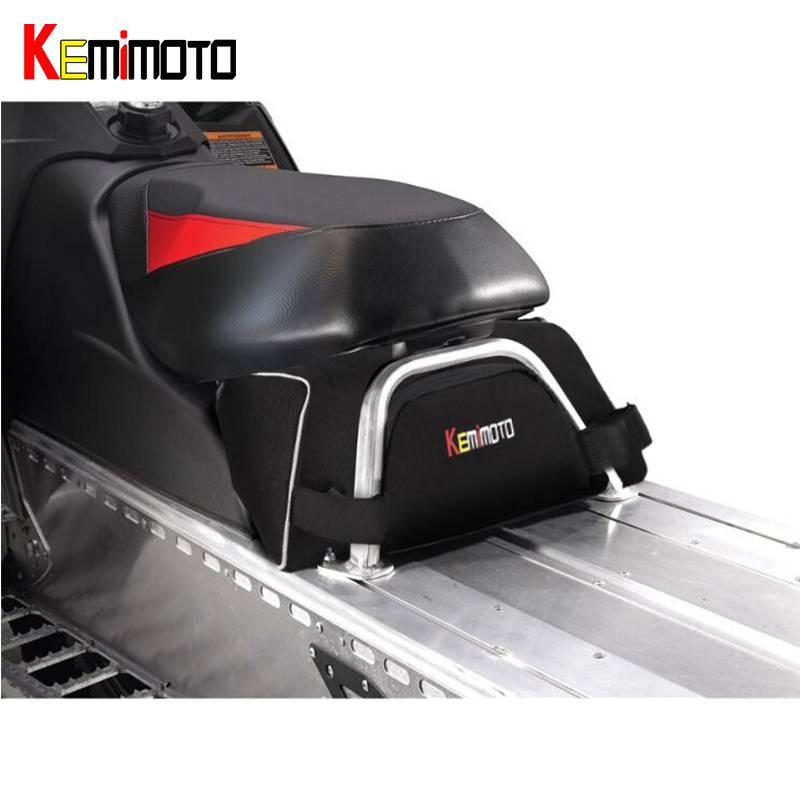 KEMiMOTO sous siège sac de rangement Switchback Cargo pour motoneige luge pour Polaris Assault RMK Indy 550 Pro RMK 600 Indy 600 800