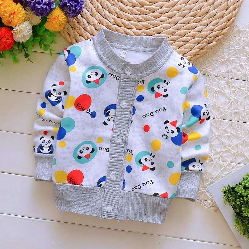 2018 New Autumn Winter Cotton Sweater Baby Children Clothing Boys Girls Carton Knitted Cardigan Sweater Kids Spring Wear New