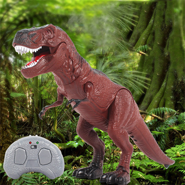 Abbyfrank Plastic Electronic RC Dinosaur Toys Simulation Sounding Walking Remote Control Dinosaur Model Tricky Toy Children Gift