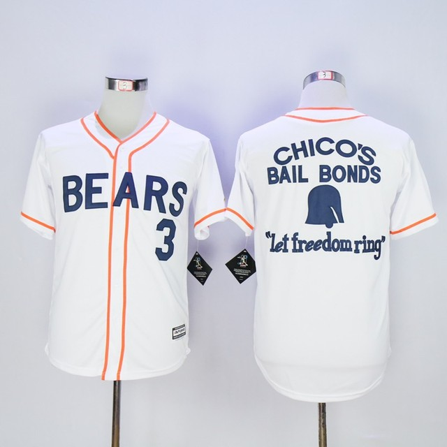 b919db491b9 Chico's Bail Bonds Jersey Bad News Bears Movie Baseball Jersey Embroidery stitched  Retro Sport Shirt