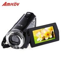 Amkov amk-dv163 HD Камера 720 P цифровой Камера 2.7 ''16mp DV видео Камера Профессиональный Камера S Поддержка LED заполняющий света с кабелем