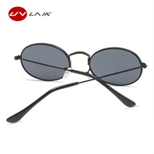 UVLAIK New Fashion Small Round Sunglasses Women Brand Vintage Eyeglasses Metal Frame HD UV400 Lens Sun Glasses Shades Eyewear