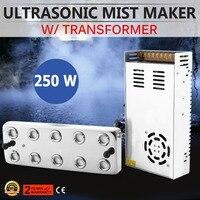 10 Cabeça Ultrasonic Névoa Criador Fogger Umidificador w/Transformador 110 V