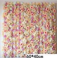 60X40 CM Kunstzijde Rose Flower Muur Bruiloft Kerst Decoratie Decoratieve Zijde Hortensia Bruiloft Decoratie Achtergrond