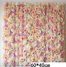 60X40CM Artificial Silk Rose Flower Wall Wedding Christmas Decoration Decorative Silk Hydrangea Wedding Decoration Backdrop