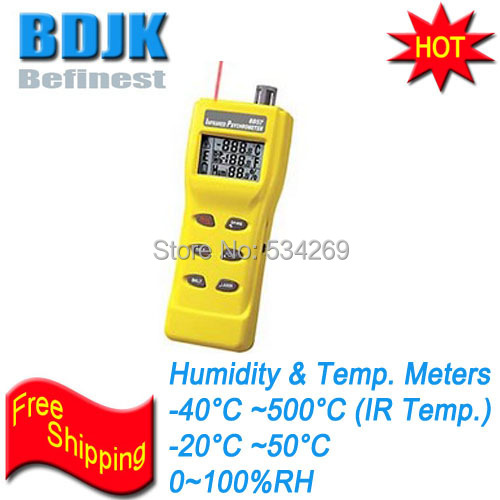 3 In 1 Digital Infrared Thermometer with Hygrometer and Temperature Tester css clear crystal glass cabinet drawer door knobs handles 30mm